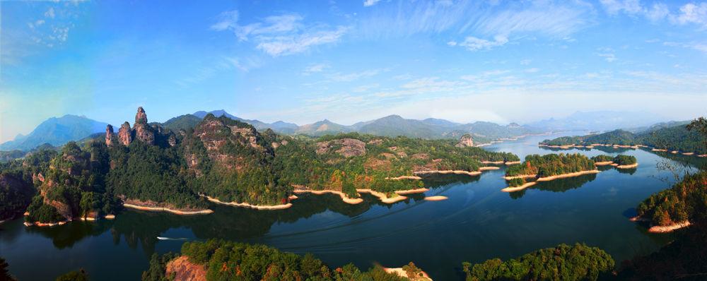 福建省泰宁县大金湖风景--三剑峰